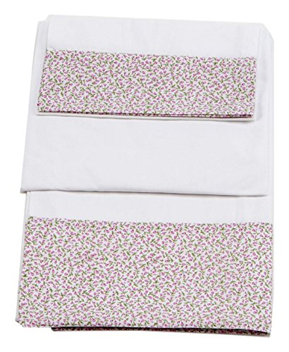 Colección Rosabel Luz - Juego de sábanas de algodón para minicuna ...