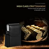 Fdit PU Leather Cigarette Box Case with Pouch