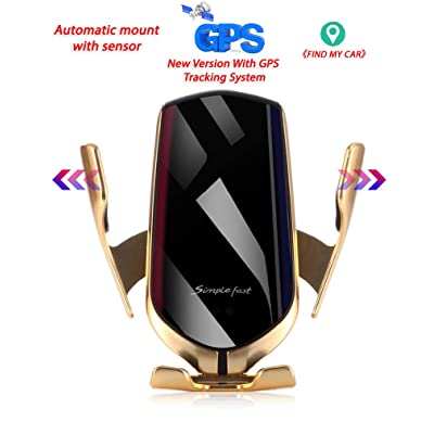 Wireless Car Charger Phone Mount GPS Tracking System Automatic Clamping Sensor Car Vent Phone Holder Infrared 10W 7.5W Qi Fast Charging Universal for Samsung/Galaxy/Note/iPhone