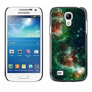 Transformaton de verde Cielos - Metal de aluminio y de plástico duro Caja del teléfono - Negro - Samsung Galaxy S4 Mini i9190 (NOT S4)