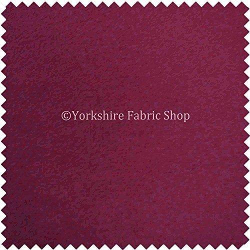 Yorkshire Fabric Shop Nouvel Effet de poil Couleur lavande doux en moleskine texturé doux en velours Tissu d\'ameublement Rideaux en tissu