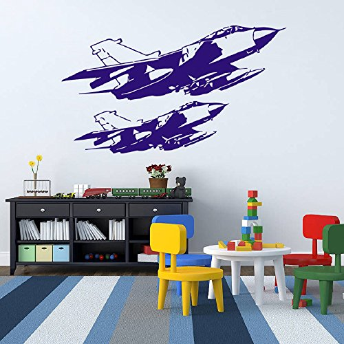 Wall Decal Sticker Decor fighter warplane war kids bedroom