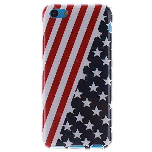 MOONCASE iPhone 5C Case Mode Muster TPU Silikon Tasche Schutzhülle Etui Hülle Schale Case Cover für iPhone 5C -TX11