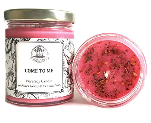 (Art of the Root Come to Me 8 oz Soy Herbal Spell Candle for Love, Commitment, Seduction (Magick, Wiccan, Pagan, Hoodoo))