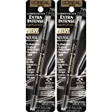 L'Oreal Paris Cosmetics Extra-Intense Pencil Eyeliner, Carbon Black, 2 Count