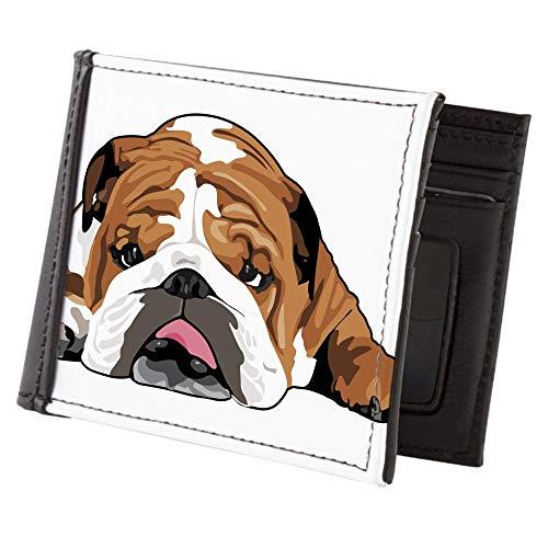 CafePress Teddy The English Bulldog Mens Wallet, Bi-fold Wallet, Billfold Money Holder