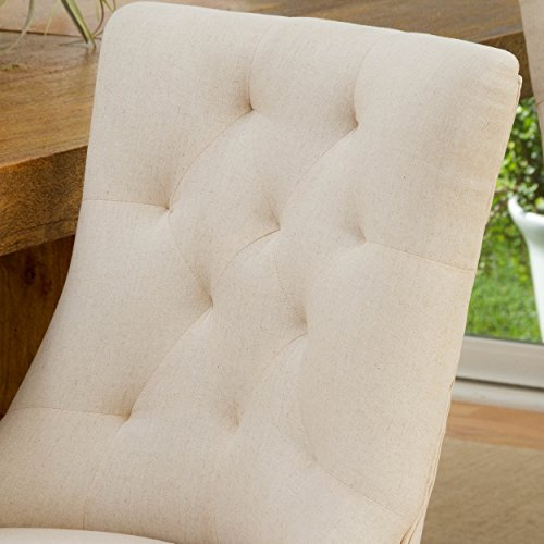 Christopher Knight Home 295013 Hayden Tufted Fabric Dining/Accent Chair (Set of 2) Beige by Christopher Knight Home (Image #2)