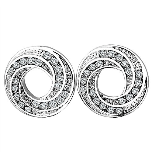PHD LTD Stainless Steel Silvery Diamond Spiral Flared Ear Tunnels Plugs Stretcher Expander Kit 00g