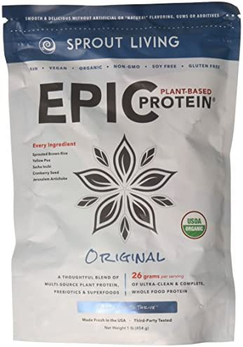 Sprout Living Epic Protein, Original, 16 Ounce