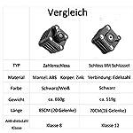 ROCKBROS-Lucchetto-Antifurto-per-Bici-Lucchetto-Pieghevole-2-Modelli-Disponibili-con-Chiave-e-Serratura-a-Combinazione-a-Forma-di-Cubo-con-Supporto-per-Lucchetto