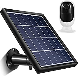 Solar Panel Compatible with Reolink Go, Reolink Argus 2, Reolink Argus Pro (Camera not Included), Weather Resistant, 3.6 m/ 11.8 ft Power Cable and 360 Degree Mount Bracket, 5 V/ 3.5 W (Max) (Black)