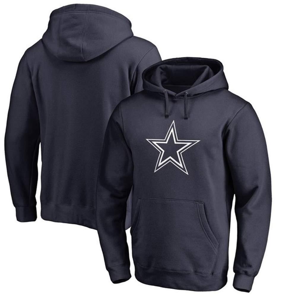 Felpa con Cappuccio Dallas Cowboys Football Americano Cappuccio con Cappuccio Gioco Aspetto Manica Lunga Felpata Felpa Tuta da Allenamento 160~195 Centimetri