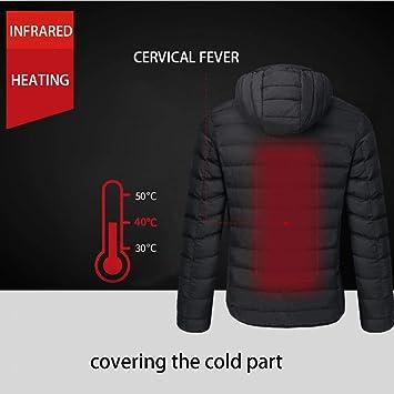 Yunt Chaqueta térmica, Chaleco abrigado térmico con Carga ...