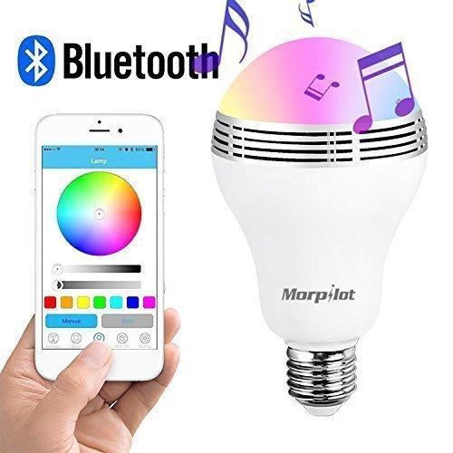 Bombilla LED E27 de 3w Morpilot con Bluetooh y altavoz