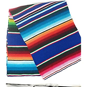 Mexitems Large Authentic Mexican Blankets Serape Blanket 84