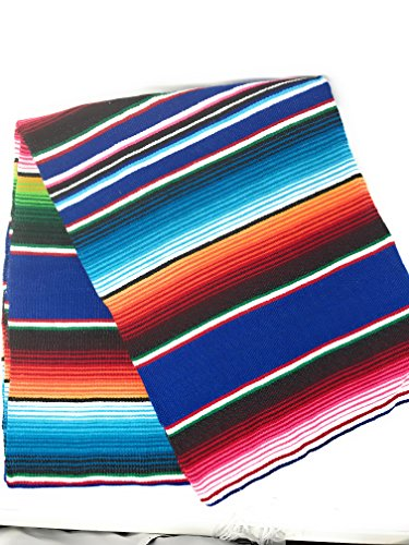 (Mexitems Large Authentic Mexican Blankets Serape Blanket 84