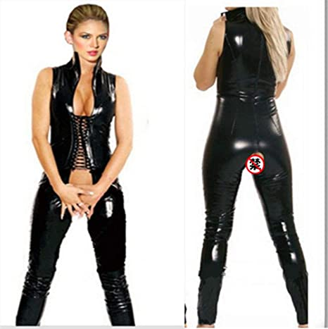 Amazon.com: GYH Sexy Hot Underwear Latex Leather Catsuit ...