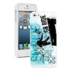 For Apple iPhone 4 4S Hard Case Cover go ride grunge blue snowboard -02