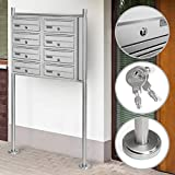 Jago Standing Mailbox Choice of Different Number of Compartments (3, 4, 5, 6, 8, 10), Stainless Steel, Lockable | Letterbox System, Postbox