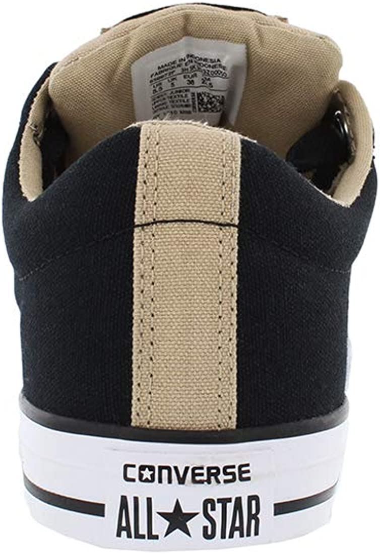 Converse Youth//Kids Street Slip On Shoes Black Vintage Khaki All Star Sneakers 3.0