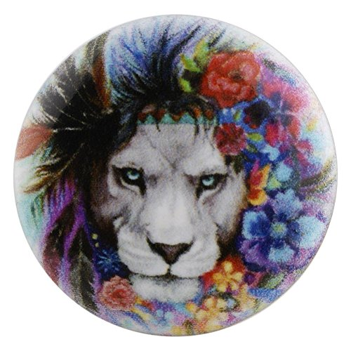 (Snap Charm Lion Painted Enamel 20mm 3/4
