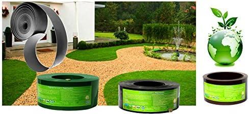 25 m Borde de césped / Cerco para cantero negro, Espesor: 1 mm, Ancho: 15 cm - para otros largos, anchos y colores visite por favor nuestra tienda (no es chapa de acero): Amazon.es: Jardín