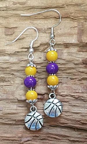 LAKERS Basketball Inspired Earrings