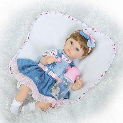 opciones a bajo precio Nicery Reborn Baby Doll Renacer Bebé la Muñeca Muñeca Muñeca Vinilo Simulación Silicona Suave 18 Pulgadas 45cm Boca Magnética Natural Niña Niño Juguete vívido para 3 años + Boy Girl RD45C042O  40% de descuento