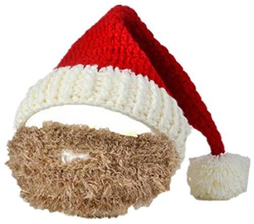 Bear boys Christmas Beanie Hat For Men and Women Winter Warm Skiing Biking Costume Santa Claus Moustache Beard Mask