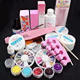 Best Yoyorule gel nail kit - Yoyorule Full Acrylic Glitter Powder Glue File French Review