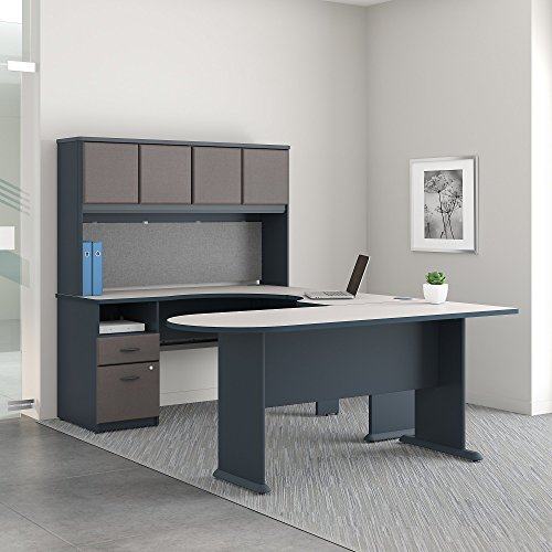 Series A U Shaped Desk with Hutch, Peninsula and Storage