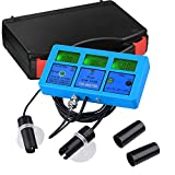 Yescom 6 in 1 Digital LCD Handheld PH PPM Temp TDS EC CF Meter Water Hydroponics Tester Kit w/Case