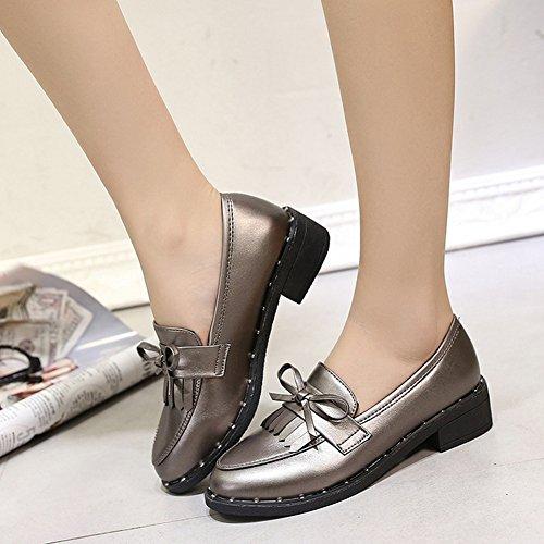 Women's Flat Oxfords Shoes Tassel Slip On Chunky Heel hot sale 2017
