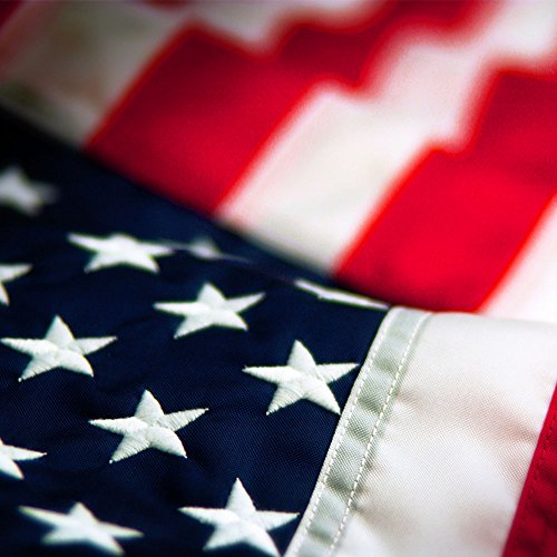 Embroidered Nylon American Flag - 6