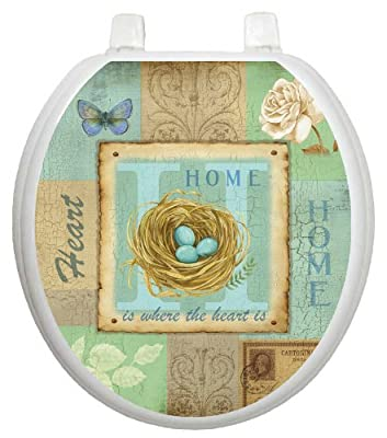 Toilet Tattoos, Toilet Seat Cover Decal, Home Collage, Size Round/standard