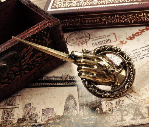 SASAMALL Pop Song of Ice and Fire Game of Throne the King's Hand Bronze Brooch