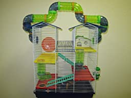 Hamster Mouse Gerbil Small Animal cage Four Levels 2809B