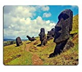 General High Quality Easter Island Famous Landscape Scenery Mouse Pads