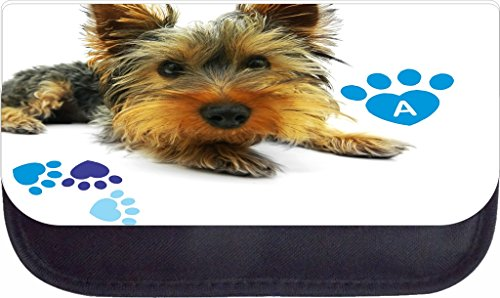 Yorkie and Pawprints Rosie Parker Inc. TM Custom Pencil Case - Customize Yours Now!