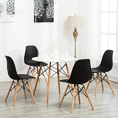 Price comparison product image SUNCOO Modern Round Vogue Dining Table Carpenter Coffee Kitchen Furniture White