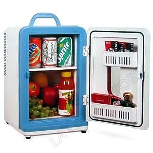12 Liter AC/DC Portable Mini Fridge Cooler Warmer Holds 4 Wine Bottles or 15 Cans of Soda (White)