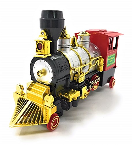 O B Toys Gift Bump   Go Classical Train Battery Operated Toy Locomotive W Lights  Sound   Bump And Go Action  Kids Christmas Train