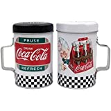 """WL SS-WL-24802 Coca-Cola """"Pause and Refresh"""" Tin Salt & Pepper Shakers, 4"""""""