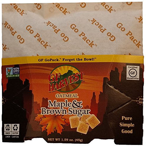 GF Harvest GoPack Single Serve Oatmeal Pack, 1.94 Ounce, Maple & Brown Sugar (Pack of 10)