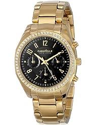 Caravelle New York Womens 44L116 Analog Display Japanese Quartz Yellow Watch
