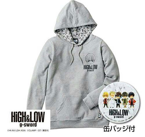 HiGH&LOW しまむら 山王連合会 Mサイズ コラボ パーカー 缶バッジ付き   B075SH4WK1