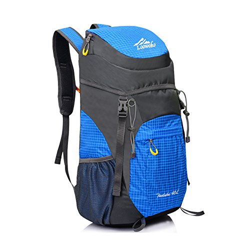 981744616cbe Loowoko Backpack 40L Lightweight Waterproof Travel Backpack foldable    Packable Hiking Daypack