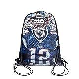 Eoyles Durable Shopping Bag Women NFL Stadium Approved Athletic Drawstring Backpack Bag