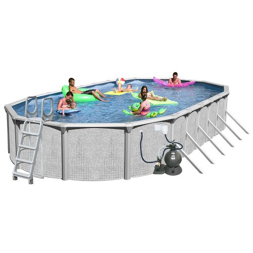 Splash Pools Above Ground Oval Pool Package, 33-Feet by 18-Feet by 52-Inch, Appliances for Home