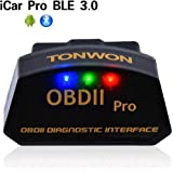 TONWON OBD2 Scanner, Auto Diagnostic Tool, Car Fault Code Reader Bluetooth Adapter for Android